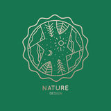 Εικονίδιο της φύσης Διανυσματική απεικόνιση