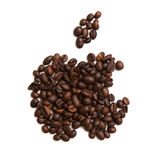 Εικονίδιο της Apple στο άσπρο υπόβαθρο στοκ φωτογραφία με δικαίωμα ελεύθερης χρήσης