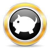 εικονίδιο τραπεζών piggy Στοκ εικόνα με δικαίωμα ελεύθερης χρήσης