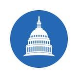 Εικονίδιο των Ηνωμένων Πολιτειών Κάπιτολ Χιλλ που χτίζουν την Ουάσιγκτον DC Στοκ εικόνες με δικαίωμα ελεύθερης χρήσης
