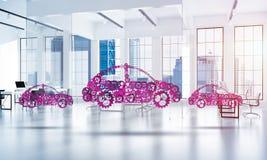 Εικονίδιο υπηρεσιών ή κατασκευής αυτοκινήτων Στοκ φωτογραφίες με δικαίωμα ελεύθερης χρήσης