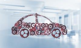 Εικονίδιο υπηρεσιών ή κατασκευής αυτοκινήτων Στοκ εικόνα με δικαίωμα ελεύθερης χρήσης