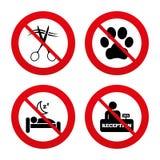 Εικονίδιο υπηρεσιών ξενοδοχείων Κατοικίδια ζώα που επιτρέπονται, κομμωτής διανυσματική απεικόνιση