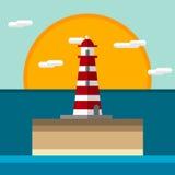 Εικονίδιο φάρων επίπεδο Στοκ εικόνες με δικαίωμα ελεύθερης χρήσης