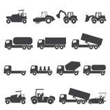 εικονίδιο φορτηγών αυτοκινήτων Στοκ Εικόνα