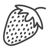 Εικονίδιο, φρούτα και διατροφή γραμμών φραουλών ελεύθερη απεικόνιση δικαιώματος