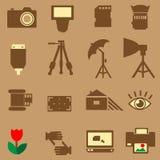 Εικονίδιο φωτογραφιών καμερών Στοκ φωτογραφία με δικαίωμα ελεύθερης χρήσης