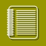 Εικονίδιο φύλλων διανυσματική απεικόνιση