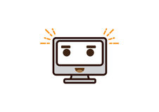 Εικονίδιο χαρακτήρα υπολογιστών διασκέδασης Στοκ Εικόνες