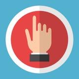Εικονίδιο χεριών στον κύκλο Στοκ φωτογραφία με δικαίωμα ελεύθερης χρήσης