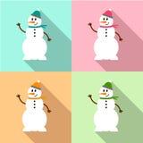 Εικονίδιο χιονανθρώπων Στοκ Εικόνες