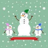 Εικονίδιο χιονανθρώπων Στοκ Φωτογραφία