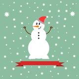 Εικονίδιο χιονανθρώπων Στοκ φωτογραφίες με δικαίωμα ελεύθερης χρήσης
