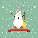 Εικονίδιο χιονανθρώπων Στοκ Εικόνα