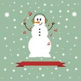 Εικονίδιο χιονανθρώπων Στοκ εικόνες με δικαίωμα ελεύθερης χρήσης