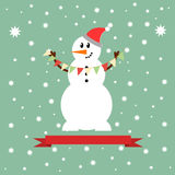 Εικονίδιο χιονανθρώπων Στοκ φωτογραφία με δικαίωμα ελεύθερης χρήσης