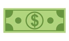 Εικονίδιο χρημάτων με το σχέδιο ύφους επίπεδου και χρώματος μινιμαλισμού Στοκ Εικόνα