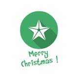 Εικονίδιο Χριστουγέννων Αστέρι Στοκ Εικόνες