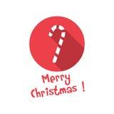 Εικονίδιο Χριστουγέννων Καραμέλα Στοκ Εικόνες