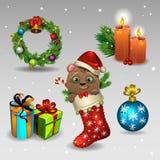 Εικονίδιο Χριστουγέννων διανυσματική απεικόνιση