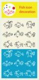 Εικονίδιο ψαριών Στοκ φωτογραφίες με δικαίωμα ελεύθερης χρήσης