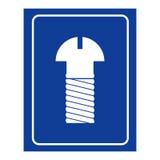 Εικονίδιο δωματίων των ατόμων βιδών Λογότυπο για τα άτομα WC Στοκ εικόνα με δικαίωμα ελεύθερης χρήσης