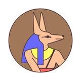 Εικονίδιο Anubis Διανυσματική απεικόνιση