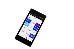 Εικονίδιο Apps στην έξυπνη τηλεφωνική οθόνη Στοκ Εικόνα