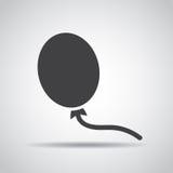 Εικονίδιο Baloon με τη σκιά σε ένα γκρίζο υπόβαθρο επίσης corel σύρετε το διάνυσμα απεικόνισης διανυσματική απεικόνιση