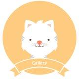 Εικονίδιο Cattery γατών Στοκ Εικόνες