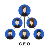 Εικονίδιο CEO Στοκ φωτογραφία με δικαίωμα ελεύθερης χρήσης