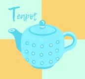 Εικονίδιο Eapot Σκίτσο αυτοκόλλητων ετικεττών Συρμένη χέρι απεικόνιση με το ύφος doodle Αφίσα τέχνης Τύπος καρτών Άνευ ραφής ανασ Στοκ Εικόνα