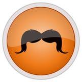 Εικονίδιο Mustache Στοκ φωτογραφία με δικαίωμα ελεύθερης χρήσης