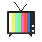 Εικονίδιο TV Στοκ Φωτογραφίες