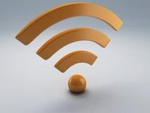 Εικονίδιο Wifi τρισδιάστατο Στοκ φωτογραφία με δικαίωμα ελεύθερης χρήσης