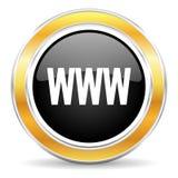 Εικονίδιο WWW Στοκ Εικόνες