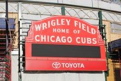 Εικονικά σκηνή/σημάδι τομέων των Chicago Cubs Wrigley κατά τη διάρκεια της ανακαίνισης Στοκ Εικόνες
