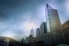 Εικονικές παραστάσεις πόλης της Νέας Υόρκης από το πάρκο μπαταριών, Μανχάταν, Νέα Υόρκη, ΗΠΑ Στοκ Εικόνες