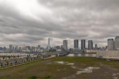 Εικονικές παραστάσεις πόλης του Τόκιο, ορίζοντας του Τόκιο, κτίριο γραφείων του Τόκιο, Στοκ Εικόνα