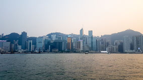 Εικονικές παραστάσεις πόλης Χονγκ Κονγκ Στοκ εικόνα με δικαίωμα ελεύθερης χρήσης