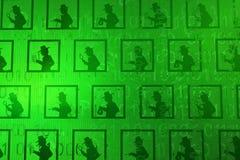 Εικονική βάση δεδομένων κατασκόπων διανυσματική απεικόνιση