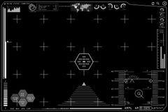 Εικονική γραφική head-up επίδειξη ρομπότ μηχανών Στοκ φωτογραφίες με δικαίωμα ελεύθερης χρήσης