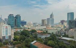 Εικονική παράσταση πόλης Ασία οριζόντων του Ho Chi Minh Saigon Στοκ Φωτογραφία