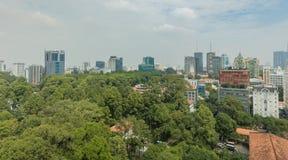 Εικονική παράσταση πόλης Ασία οριζόντων του Ho Chi Minh Saigon Στοκ φωτογραφία με δικαίωμα ελεύθερης χρήσης