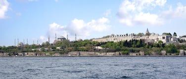 εικονική παράσταση πόλης ιστορική Κωνσταντινούπολη στοκ εικόνα με δικαίωμα ελεύθερης χρήσης