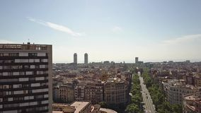 Εικονική παράσταση πόλης και Arco de Triunfo της Βαρκελώνης - θριαμβευτική αψίδα, Ισπανία Στοκ φωτογραφία με δικαίωμα ελεύθερης χρήσης