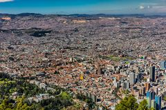 Εικονική παράσταση πόλης Κολομβία οριζόντων της Μπογκοτά Στοκ εικόνες με δικαίωμα ελεύθερης χρήσης