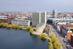 εικονική παράσταση πόλης Κοπεγχάγη Στοκ φωτογραφία με δικαίωμα ελεύθερης χρήσης
