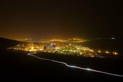 Εικονική παράσταση πόλης νύχτας Στοκ Εικόνα