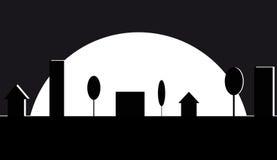 Εικονική παράσταση πόλης νύχτας Στοκ Εικόνες